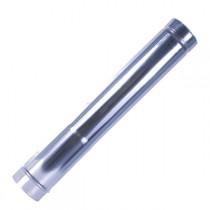 Труба прямая 500 мм (ф70мм) с переходником на 80мм
