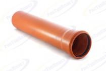 Труба канализационная 110 х 3,4 х 3000 мм Ростурпласт