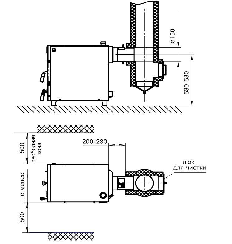 Схема установки котла ZOTA Master 20